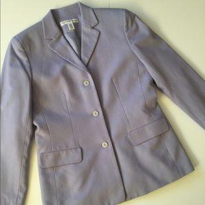 VTG Wool & Cashmere Blazer In Pale Lavender